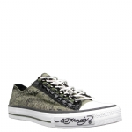 Ed Hardy Lowrise Benoit Sneakers for Women- Military
