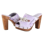 Ed Hardy Cest Prive Heel  Clog  Shoe - Purple