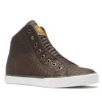 Ed Hardy Highrise Quilt Sneaker for Women - Brown