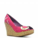 Ed Hardy Cerra Wedge Shoe - Fuschia