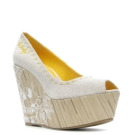 Ed Hardy Ciro Heel Shoe - Off White