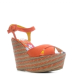 Ed Hardy Cristy Womens Heel Shoe - Orange
