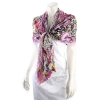 Ed Hardy Double Skull Broom Stick Twisted Scarf Pink