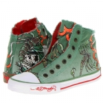 Ed Hardy Highrise Sneaker for Women - Military