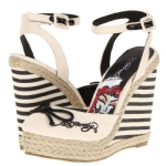 Ed Hardy Womens Mariner Wedge Shoe - Black