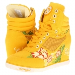 Ed Hardy Sneaky Wedge Sneaker for Women - Yellow