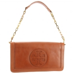 Tory Burch Suki Reva Clutch Bag- Cognac