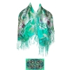 Ed Hardy Love Kills Square Silk Fringe Scarf