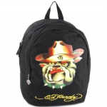Ed Hardy Misha Head Dog Backpack- Black
