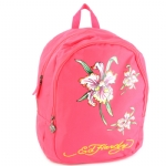 Ed Hardy Misha Iris Flower Backpack- Hot Pink