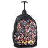 Ed Hardy Brad All Over Collage Trolley Backpack- Black