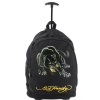 Ed Hardy Brad Panther Trolley Backpack- Black