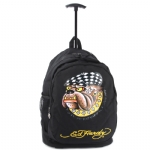 Ed Hardy Brad Racing Dog Trolley Backpack- Black