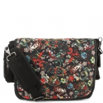 Ed Hardy Leo All Over Collage Messenger Bag - Black