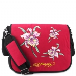 Ed Hardy Leo Iris Messenger Bag - Berry