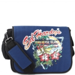 Ed Hardy Leo Paradise Beach Messenger Bag - Navy