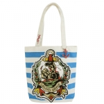 Ed Hardy Striped Miley Tote-Navy