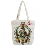 Ed Hardy Striped Miley Tote-Pink