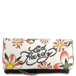 Ed Hardy Fresh Flowers Amarylis Clutch -Black