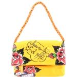 Ed Hardy  Amantha Shoulder Tote -Yellow