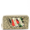 Ed Hardy Panthera Spring  Zip Around Wallet - Gold