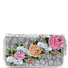 Ed Hardy Felidae Spring  Zip Around Wallet - Silver