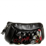 Ed Hardy Amanda Cosmetic Case - Black