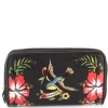 Ed Hardy Tiffany Zip Around Wallet - Black