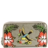 Ed Hardy Tiffany Zip Around Wallet - Silver