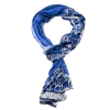 Ed Hardy 18x75 Jersey with Nail Heads Tiger Scarf - Blue