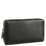 Prada 2M1303 Saffiano Leather Document Organizer-Black