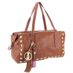 Christian Audigier Eugenie Satchel Bag - Cognac