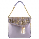 Christian Audigier Daisy Shoulder Flap Handbag - Mauve