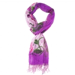 Christian Audigier 80x40 Rose Bud Scarf - Pink