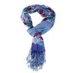 Christian Audigier 80x40 Rose Bud Scarf - Blue