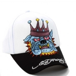 Ed Hardy Kids Bulldog Cap - White/Black