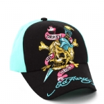 Ed Hardy Boys Death Or Glory Cap-Black/Aqua