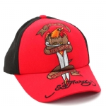 Ed Hardy Kids Death Before Dishonor Cap - Black/Red