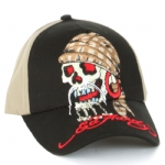 Ed Hardy Boys Pirate Skull Cap - Khaki/Black