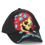 Ed Hardy Boys Skull Flower Cap - Black
