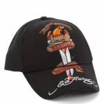 Ed Hardy Boys Death Before Dishonor Cap- Black
