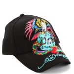 Ed Hardy Boys Skull Eagle Cap-Black
