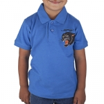 Ed Hardy Toddlers Panther Polo - Cobalt