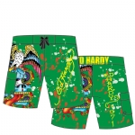 Ed Hardy Boys Swim Board Shorts  - Green