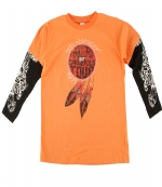 Ed Hardy Kids Long Sleeve T-Shirt -Orange