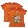 Ed Hardy Print and Foiled Tshirt for Teens - Orange