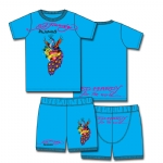 Ed Hardy Pajama Set for Toddlers - Turquoise