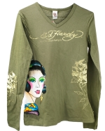 Ed Hardy Toddlers V-Neck Girls Tunic - Khaki