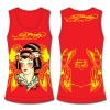 Ed Hardy Racer Tank Top for Girls - Red