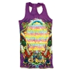 Ed Hardy Button Tank Top for Girls - Purple
